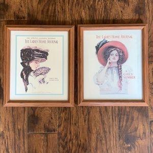 Vintage Ladies Home Journal frames prints